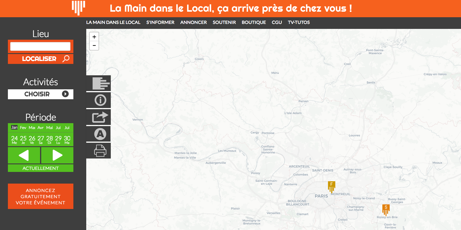 la main dans le local
